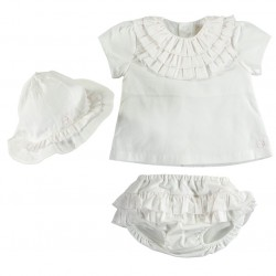 Emile et Rose - Hetty - 2pc set - top, pants and sunhat - 1m  last one in sale