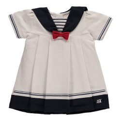 Emile et Rose - Dress - Horizon sailor dress - hat & pants - 6m - sale - last one
