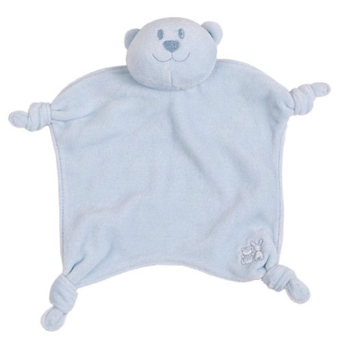 Emile et Rose - Comforter - Pale Blue Velour  Teddy  - 2x left in sale