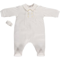 Emile et Rose- Earl - Babygrow - white - incl.rattle 1602 - 3m
