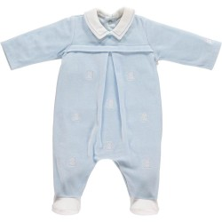 Emile et Rose - Farley - Babygrow -1614 Velour All In One - 1, 3m - sale