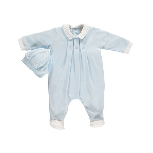 Emile et Rose - Babygrow with triple pleat and hat - 1m, 3m,