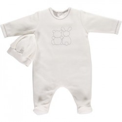 Emile et Rose - Babygrow - WHITE - Frost - 1627  - NB , 1m - sale