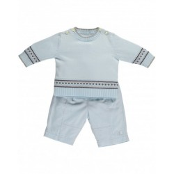 Emile et Rose-  Freddie 6359 Pale Blue Top & Trouser set - in SALE - 3, 6m, 12m