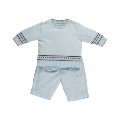 Emile et Rose - Freddie -  6359 Pale Blue Top & Trouser set -  3, 6m, 12m  - SALE