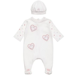 Emile et Rose -  Babygrow - 1616  - with hat  - 1m - SALE