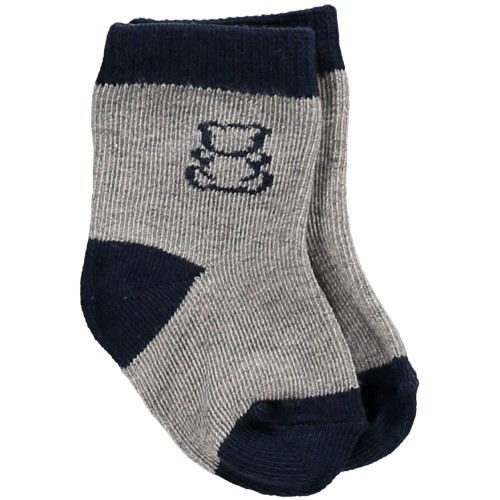 Emile et Rose - Twin pack socks - Navy and grey  -3m, 9, 18m