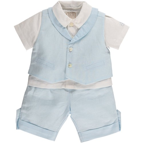 Set - Elliot - shirt, shorts and waistcoat  in SALE 9m only left