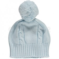 Hat - Bobble hat - pale blue