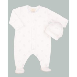 Emile et Rose - Cody - babygrow with cute teddy print - 1m, 3m