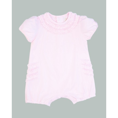 Emile et Rose - Stretch Jersey Romper - Pale Pink 1, 3, 6m
