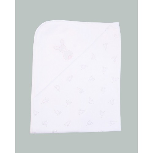 Emile et Rose - Blanket - Swaddling Cuddle Wrap - White/PInk