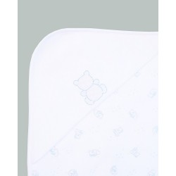 Emile et Rose - Chester - Swaddling blanket in WHite/Blue