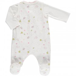 Babygrow - Emile et Rose - Dotty - Pale pink - 1m -  last one in - CLEARANCE 45% off - No return