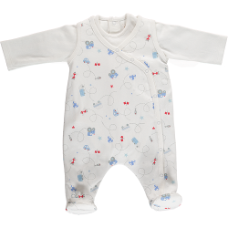Babygrow - Emile et Rose - Dayton - Luxury all in one - Pale Blue - 1m - last item -45% clearance sale