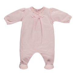 Emile et Rose - Babygrow - Harlow - All in One with Mock Ballet Feet, Pink