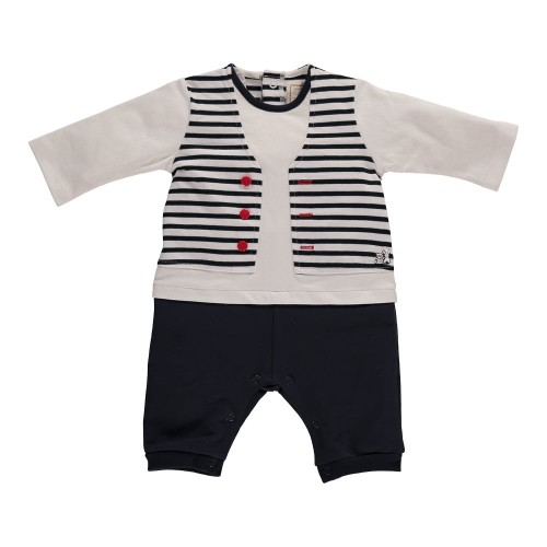 Babygrow - Hawk Jersey All in One & Dribble Bib, Navy in SALE  1, 6,m