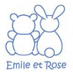 Emile et Rose - Interlock All in One ,with feet and small bunny emblem , Hat - 1m, 6m