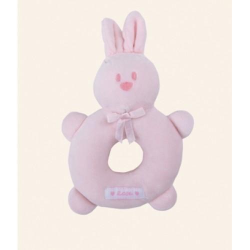 Emile et Rose - Rattle - Pale Pink Bunny