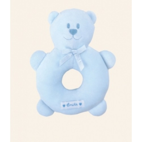 Emile et Rose - Rattle - Pale Blue Teddy