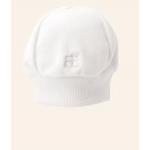 Emile et Rose - Interlock All in One , fading teddies emblem , Hat - WHITE  - prem baby, 3m