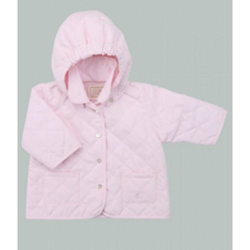 Emile et Rose - Microfibre wadded Jacket with detachable Hood - Pink in SALE , 23m