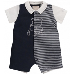 Emile et Rose - Elson Short Teddy Romper in navy 1m,