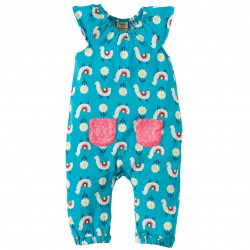 Playsuit - Frugi - Dory Gathered Playsuit - Llama Leap - 0-3m,12-18m,18-24m  (3x) and 2-3y  - SALE (very generous sizing_