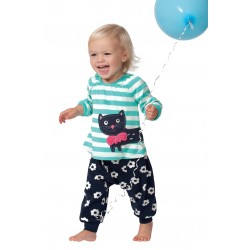 Top - Frugi  - Ella -  Blue stripe cat  0-3 and 3-6,m - SALE