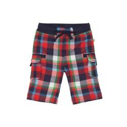 Trousers - Frugi Checked Snugs - RedMulticheck - SALE - 0-3 , 3-6,m
