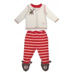 Set - FRUGI Toasty Toes Outfit - Frugi Christmas edition  in SALE 0-3m  - last one in sale