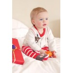 Set - FRUGI Toasty Toes Outfit - Frugi Christmas edition  in SALE 0-3m  - 1 x left in sale