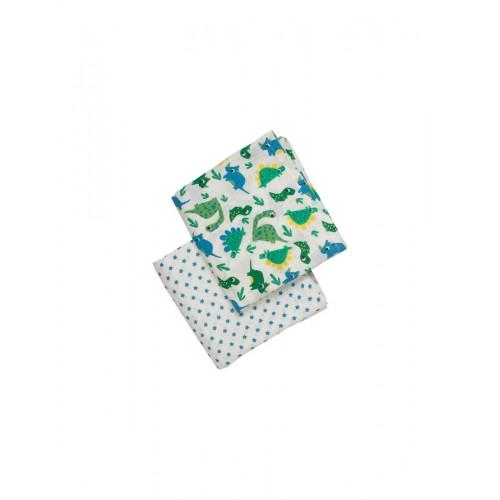 Muslin - Frugi -  2 pack - Frugi happy dinos  - last one