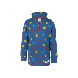 Jumper - Frugi Half Zip -  Multi Scatter Star - 3-4y sale last one