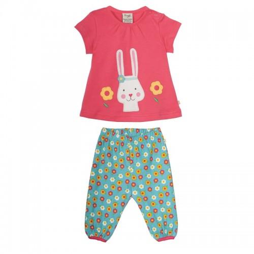 Set - Frugi Petunia Bunny Smock Top Set  - 6-12m