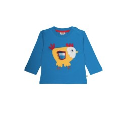 Top - Frugi Helford Applique  Chick  0-3,  Sale last one
