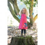 Dress - Frugi Hannah Reversible - Raspberry/Horse 2-3 last one - sale