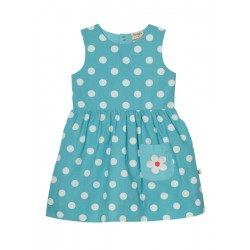 Dress - Frugi Little Lamorna Reversible Dress - Chick/ aqua spot   12-18m - sale