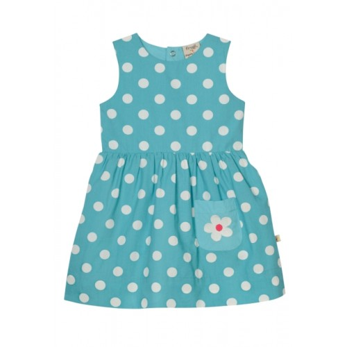 Dress - Frugi Little Lamorna Reversible Dress - Chick/ aqua spot   12-18m - sale