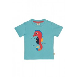 Top - Frugi Little Creature -  seahorse  0-3m - last one in sale