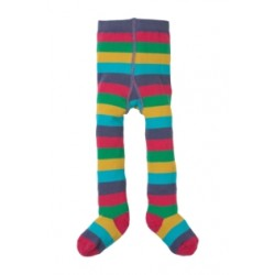 Tights - Frugi Little Zoe Tights- Autumn Rainbow - - one left in sale