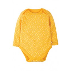 Body - Frugi Spotty Body - Honey Dot -  0-3m, 3-6m  12-18m,  2-3y,