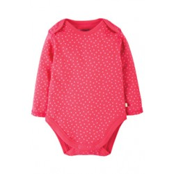 Body - Frugi Spotty Body - Raspberry Dot - 18-24, 12-18m,  2-3y - sale