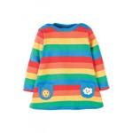 Dress - Frugi - Rainbow Dress/Tunic - AW17 - DRA708RBS - 0-3m, 3-6, 6-12, 12-18, 3-4 - sale