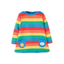 Dress - Frugi - Rainbow Dress/Tunic - AW17 - DRA708RBS - 0-3m, 3-6, 6-12, 12-18, 3-4 - sale