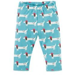 Leggings - Frugi Little Libby Leggings - Aqua Beret Dogs - 6-12, 3-4y  sale