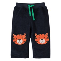 Trousers - Frugi Boys Cord Patch Trousers - Navy Tiger - 12- 18m (2x) - sale