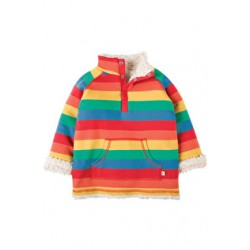 Fleece - Frugi Little Snuggle Fleece - Rainbow Stripe  12-18, 18-24, 2-3, 3-4y