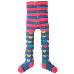 Tights - Frugi Little Norah Tights - Bunting Stripe - 0-6m  1x Last one
