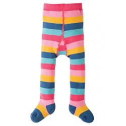 Tights - Frugi Toasty Tights (warm) - Pink Rainbow Stripe  0-6(3x) 6-12m  and 1-2y (1x)